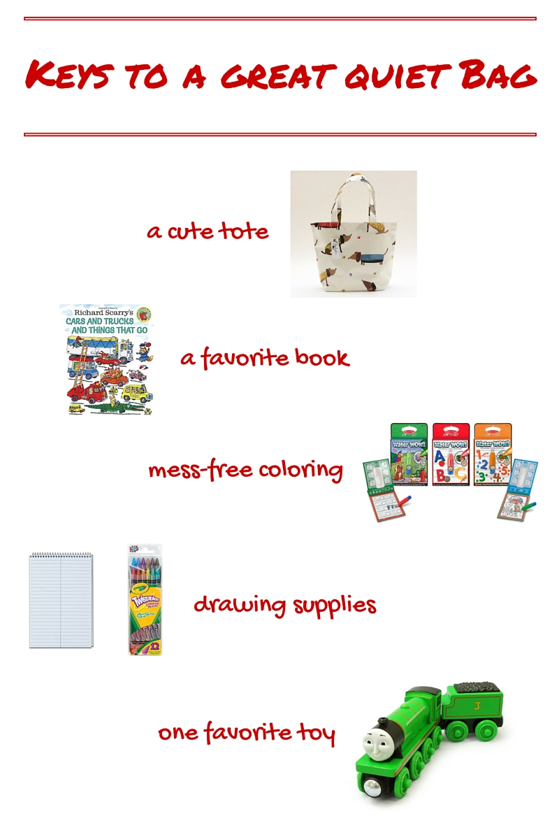What's In Our Church Bag (or Keeping a Toddler Quiet-ish for