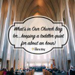 What's In Our Church Bag (or Keeping a Toddler Quiet-ish for About an Hour)