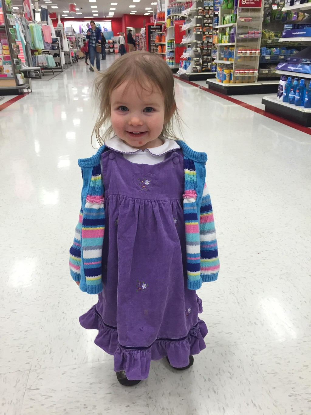 My Ragamuffin girl - Because sometimes, just GETTING to the store is more important than how you're dressed when you get there.