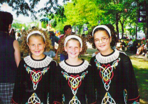 Throwing it back: That's me on the right in my Irish dancing days.