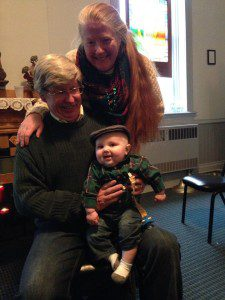 My parents with Nate at his first Ceili