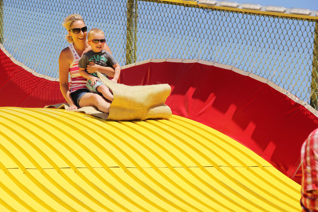 A Ride Down the Giant Slide is a State Fair Tradition