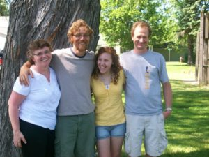 Meeting the extended side of my birth family in 2010.