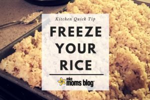 Kitchen Quick Tip - Freeze Your Rice