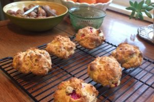 Cranberry Eggnog Holiday Scones