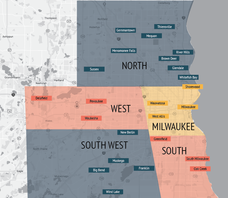 Milwaukee Zone Map