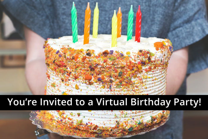 You're Invited to a Virtual Birthday Party