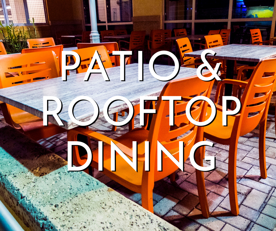 patio and rooftop dining