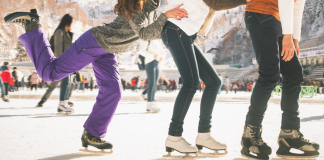 outdoor ice skating rinks